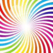 foto of hypnotic  - Abstract Rainbow Hypnotic Background Vector Illustration - JPG
