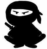 Ninja cartoon character