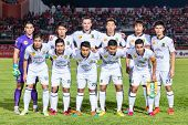 Sisaket Thailand-october 29: Players Of Army Utd. Pose For A Team Picture Prior To Thai Premier Leag