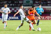 Sisaket Thailand-october 29: Sarayuth Chaikamdee Of Sisaket Fc. In Action During Thai Premier League