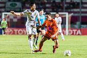 Sisaket Thailand-october 29: Sarayuth Chaikamdee Of Sisaket Fc. In Action During Thai Premier League