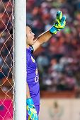 Sisaket Thailand-october 29: Sarawut Konglarp Of Army Utd. In Action During Thai Premier League Betw