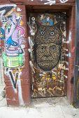 Mural art in Williamsburg section in Brooklyn