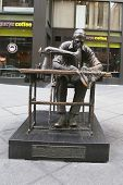 The Garment Worker sculpture by Judith Weller at the Fashion District in Manhattan