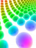 abstract 3d balls