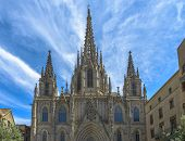 Cathedral In Barcelona, Spain