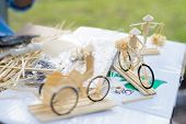 Vietnam Crafts Using Soft Wood To Make A Little Bicycle