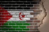 Dark Brick Wall With Plaster - Western Sahara
