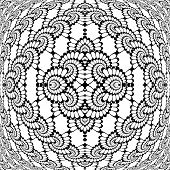 Design Monochrome Decorative Interlaced Pattern