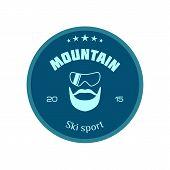 Ski logo mountain