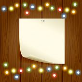 Colorful Christmas Light And Paper