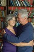 Cheerful retired couple in love