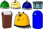 stock photo of waste management  - Illustrating the waste containers and waste management - JPG