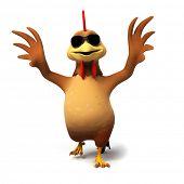3d rendered illustration of a chicken