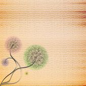 Abstract cardboard texture background with flower vector