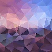 Vector Polygonal Background Violet Amethyst