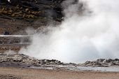 Geyser Eruption, El Tatio Geyser Field, Chile