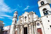 The Cathedral of Havana on a beautiful sunny day