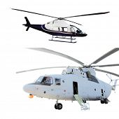 helicopter isolated on the white background