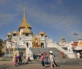 Bangkok, Thailand - Circa November 2013: Tourists Visiting Wat T