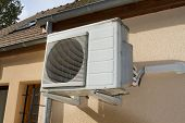 Air Conditionner Unit On The Wall