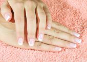 Beautiful woman's nails