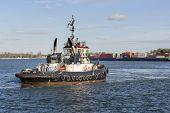 Tugboat Antwerpen 41 in the port of Antwerp