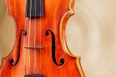 Classical violin on bright background