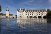 Chenonceau, France - Octobre 10. Loire Valley Castle Near The Village Of Chenonceaux, On Octobre 10,