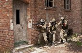 Three Soldiers In Full Uniform Stormed The Building