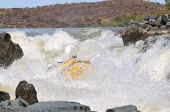 foto of raft  - White water rafting - JPG