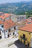 Panoramic view of Acerenza. Basilicata. Southern Italy.