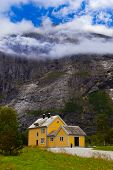House near Trollstigen Norway - nature and travel background