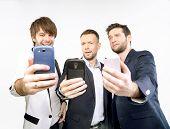 Men with smartphones