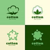 Floral Logo Template, Cotton And Wool Clothes. Abstract Design Concept For Natural Product. Vector I
