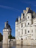 Chenonceau, France - Octobre 10. Loire Valley Castle Near The Village Of Chenonceaux, On Octobre 10,