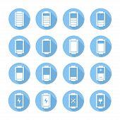 Battery web icons,symbol