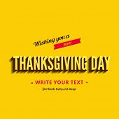 stock photo of happy thanksgiving  - Happy Thanksgiving Day Typography Greeting card Poster design templates set - JPG