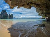 Beautiful Phranang Beach. Krabi, Thailand.
