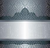 Dark Silver luxury vintage invitation background design