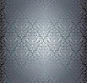 Silver luxury vintage pattern grunge  wall paper