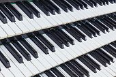 image of pipe organ  - Organ music keys close - JPG