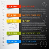 pic of graph paper  - Vector Infographic timeline report template with icons - JPG