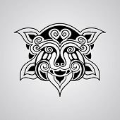 Постер, плакат: Vector Lion Tattoo Sketch