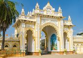 The Northern gate of the Mysore Maharaja�?�?�?�´s Palace. Karnataka, India