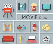 Conceptual Movie Time Graphic Design