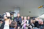 Politicians Alexei Navalny and Evgenia Chirikova on elections in Khimki