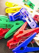 Scrambled Colorful Clothespin