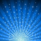 Abstract blue star burst background.