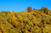 Countryside landscape in a romanian villlage